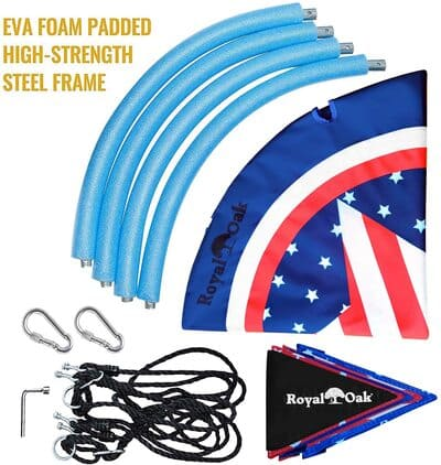 3 Saucer Tree Swing ,Giant 40 Inches with Carabiners and Flags