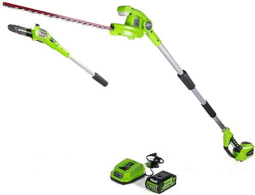 5 Greenworks Pole Saw with Hedge Trimmer
