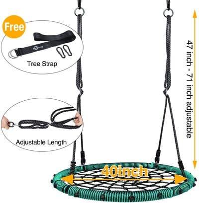 7 Trekassy 750 lb Spider Web Swing 40 inch