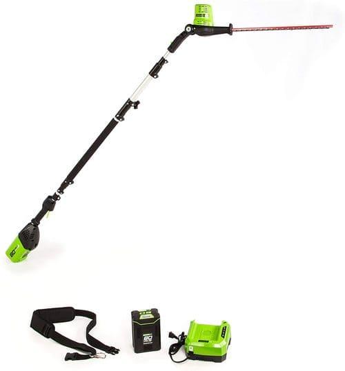 8 Greenworks Pro Pole Hedge Trimmer, PH80B210