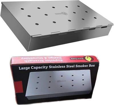 1 Smoker Box Maximum Wood Chip Capacity